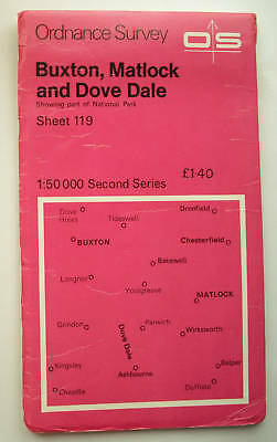 OS 1:50 000 First Series Buxton, Matlock and Dove Dale