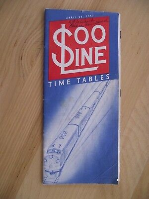Soo Line Time Table April 28, 1957  --  Entire System