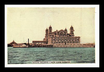 Dr Jim Stamps Us Ellis Island New York Harbor View Lumitone Photoprint Postcard