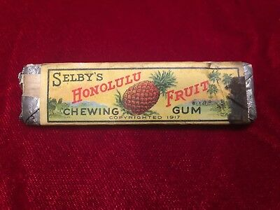 Vintage Selby's Honolulu Gum Stick With Unopened Gum in Foil Wrapper