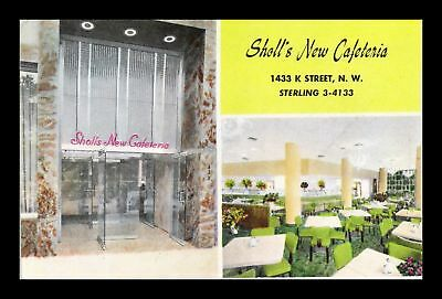 Dr Jim Stamps Us Sholls New Cafeteria Interior And Exterior View Postcard