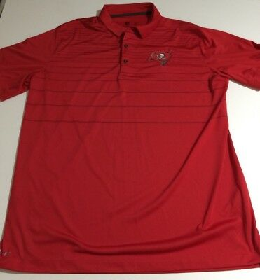 cab0d76e6 Tampa Bay Buccaneers Nike Men s size XL Red Polo Shirt Dri Fit NFL On Field
