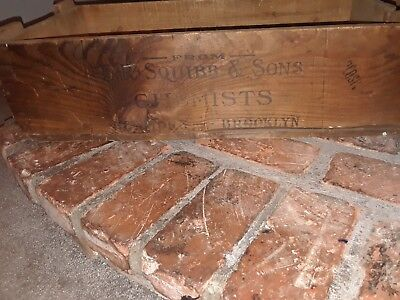 E R Squibb & sons 1850s to 1900s crate Bristol