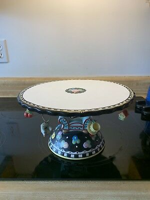 Mary engelbreit Cake Plate Stand Server Charms