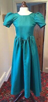GIRL'S VINTAGE 1980's GREEN BRIDESMAID/PARTY DRESS