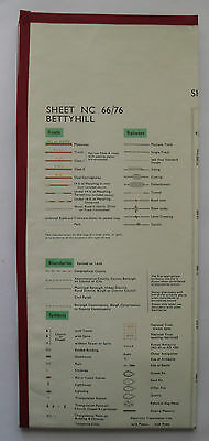 1965 old OS Ordnance Survey 1:25000 Second Series Map Bettyhill NC 66/76