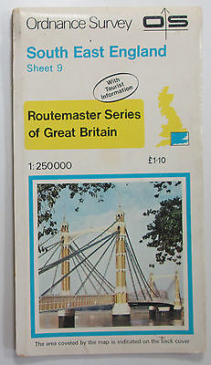 Old 1980 OS Ordnance Survey 1:250 000 Routemaster Map 9 South East England