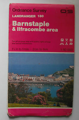 1980 OS Ordnance Survey Landranger map 180 Barnstaple & Ilfracombe area