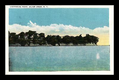 Dr Jim Stamps Us Lighthouse Point Silver Creek New York View Postcard