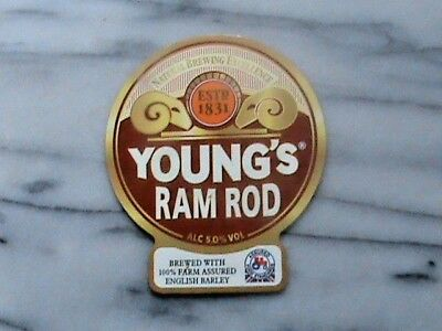 Young's Ram Rod real ale beer pump clip sign