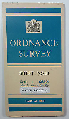 1959 OS Ordnance Survey 1:25000 First Series Provisional Map NO 13 Stanley