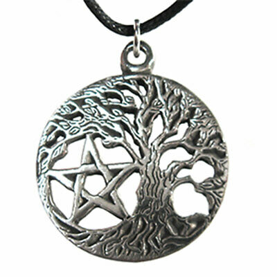 """Wiccan Tree of Life Pendant 1.5"""" NEW Celtic Knot Amulet w/ Cord - US Made!"""
