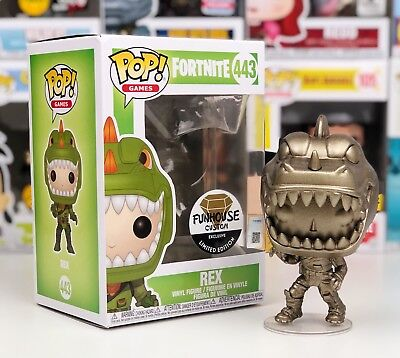 Funko Pop #443 GOLD Metallic Fortnite REX Funhouse Custom Exclusive Limited