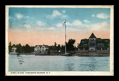 Dr Jim Stamps Us Jewel Island Thousand Islands New York View Postcard