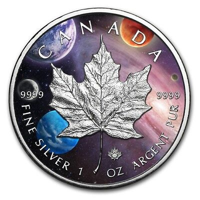 2019 $5 Canada MILKY WAY MAPLE LEAF 1 Oz Silver Coin..