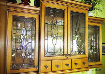 Spectacular Cabinet Glass Inserts with bevel cluster SGDK 199