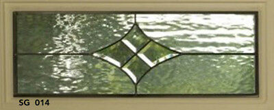 Bevel glass Star cluster with water glass background Transom window