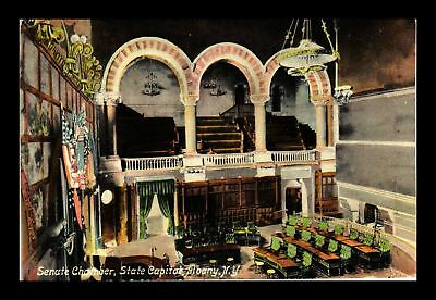Dr Jim Stamps Us Senate Chamber State Capitol Albany New York View Postcard