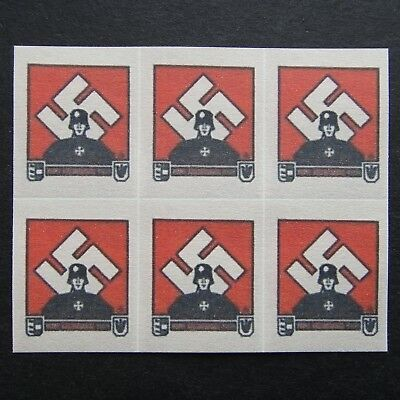 Germany Nazi 1939 - 1945 MINT Revenue Stamps Block Third Reich WWII German