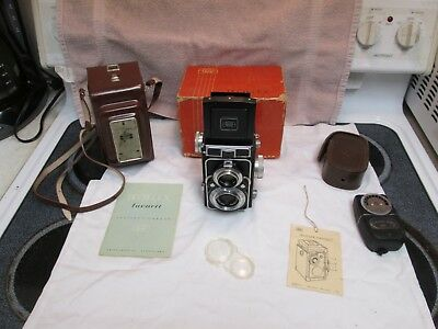 Boxed Zeiss Ikon Ikoflex Ic 120 Film TLR Camera w/ Tessar 75mm F3.5 Lens & Case