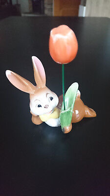 Goebel Ostern Hase Osterhase *Hase mit Tulpe* 11 cm TOP ZUSTAND
