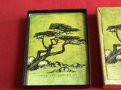 Antioch Bookplates Vintage Labels 40 In Total Lovely Unusual Tree Design In Box