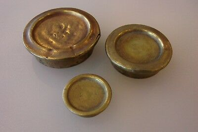 Antique Brass Scale Weights Rare Vintage Scales Weight