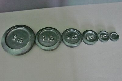 Antique Cast Iron Scale Weights Vintage Scales Weight Nice Set