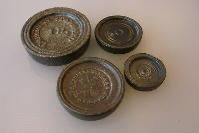 Antique Cast Iron Scale Weights Vintage Scales Weight Very Old