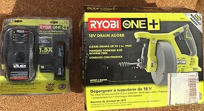 Ryobi P4001 18v One+ Drain Auger & Battery Charger Great Condition