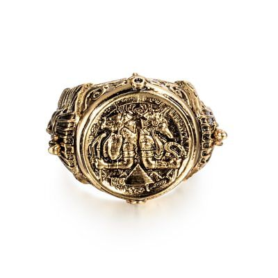 Ancient Egyptian Egypt SIZE GOD RING Horus Anubis Rangers Coin Rings GOLD Jewelr