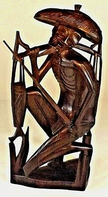 Balinese - Indonesia Carved Wooden Resting Water Carrier Antique Beautiful Rare