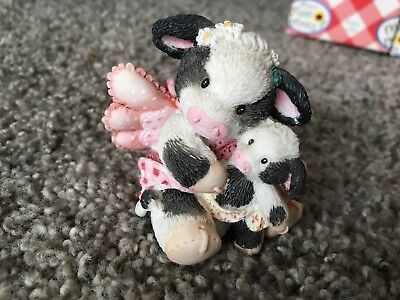 Mary's Moo Moos Holstien You Close Mom w/baby cupid  Valentines Day Gift