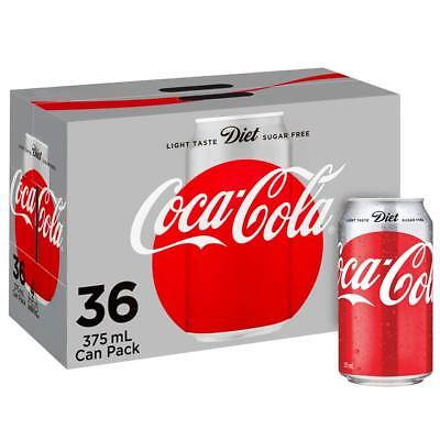 Diet Coca-Cola Coke Soft Drink Multipack Cans 36 x 375mL Pack