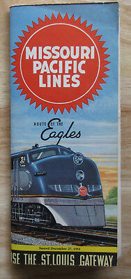 MP MISSOURI PACIFIC Public Timetable:  12/27/53 System