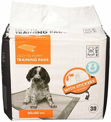 M-Pets 30PK Easy Fix White Puppy Training Pads, 23x23-inch