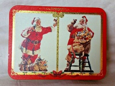 Tin Coca-Cola Nostalgia Playing Cards - Christmas Themed 1994 - sealed