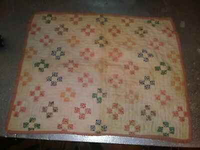 Vintage Hand Quilted Doll Quilt