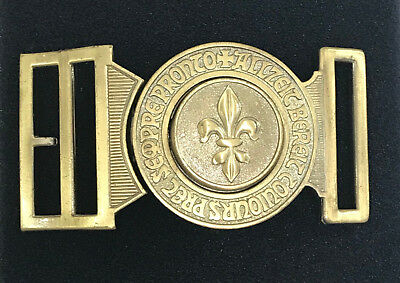 Scouts Of Switzerland - Swiss Boy Scout (Bs) Official Metal Buckle ~ Rare & Mint