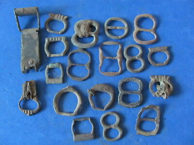 FANTASTIC Lot of (19) Bronze Buckles  Artefacts, Ancient to Post Medieval