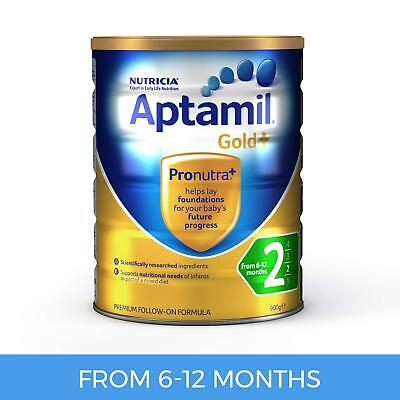 Aptamil Gold+ 2 Follow-On Baby Formula for 6 to 12 Months Babies 900g