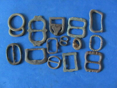 FANTASTIC Lot of (14) Bronze Buckles  Artefacts, Ancient to Post Medieval