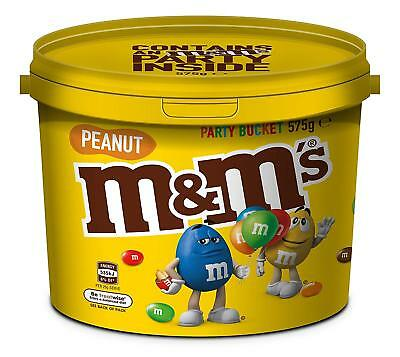 M&M's Peanut Chocolate Party Size Bucket 575g Lollies