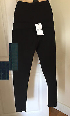 Bnwt Marks & Spencer Maternity Black Over Bump Leggings Size 12