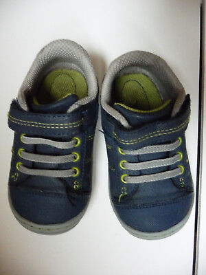 58f6cd573d3b23 Surprize by Stride Rite Navy Blue Hilbert Toddler Baby Boy Shoes Size 5 GUC