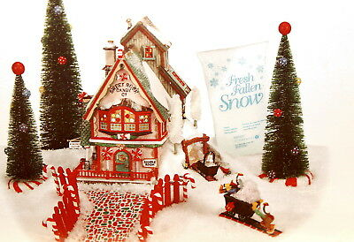 "Department 56 North Pole Series ""Sweet Rock Candy Co. - Set of 9"" NEW"