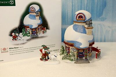 "Department 56 North Pole  ""Mitten Manor - Set of 2"""
