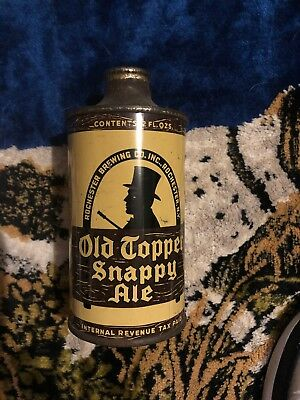 Old Topper  & Snappy Ale* Irtp *crowntainer * Cone Top * Beer Can Rochester Ny