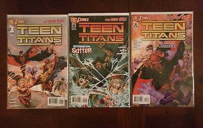 DC Comics Teen Titans The New 52 #1-3 Comic Book Lot