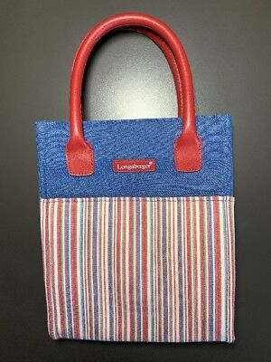Longaberger Homestead Small Tote, Purse, Lunch Bag, New, FS
